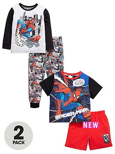 spiderman-boys-short-and-long-pyjamas-2-pack