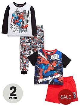 spiderman-boys-short-and-long-pyjamas-2-pack