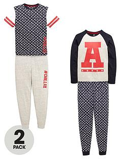 v-by-very-boys-collegiate-pyjamas-set-2-pack