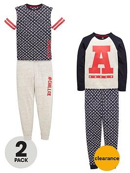 v-by-very-boys-collegiate-pyjamas-set-2-pack