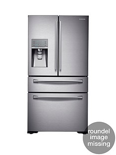 Samsung RF24HSESBSR/EU French Door Side By Side Fridge Freezer with SodaStream - Silver, 5 Year Samsung Parts and Labour Warranty