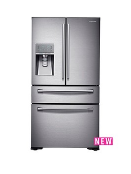 samsung-rf24hsesbsreu-french-door-side-by-side-fridge-freezer-with-soda-streamnbsp--next-day-delivery-silver