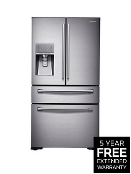 samsung-rf24hsesbsreu-french-door-side-by-side-fridge-freezer-with-sodastreamnbsp--next-day-delivery-silver