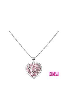 keepsafe-keepsafe-personalised-sterling-silver-mum-locket-with-pink-insert