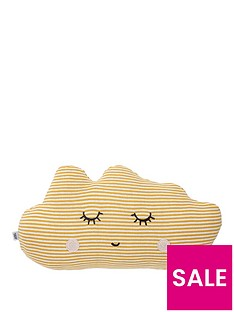 Mamas & Papas Cushion - Yellow Cloud
