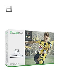 xbox-one-s-500gbnbspwhite-console-with-fifa-17-plusnbspoptional-extra-controller-andor-12-months-xbox-live