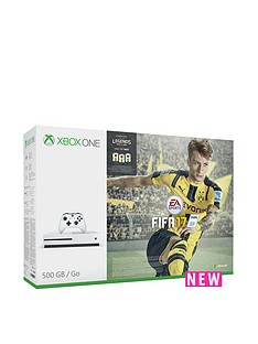 xbox-one-s-500gb-white-console-with-fifa-17-with-optional-extra-controller-and-12-months-live-subscription