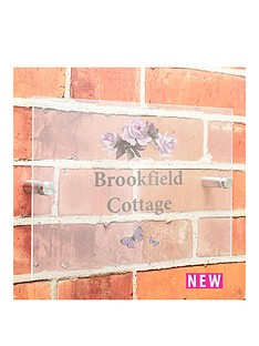 personalised-vintage-rose-acrylic-house-sign