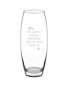 personalised-butterfly-hourglass-vase