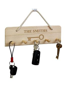 personalised-family-name-key-hanger