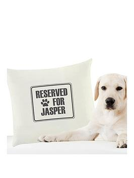 personalised-reserved-for-the-dog-cushion