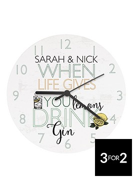 personalised-when-life-gives-you-lemonshellip-wooden-clock