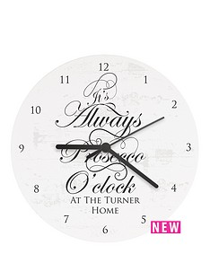 personalised-039always-prosecco-o-clockhellip039-wooden-clock