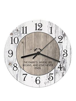 personalised-rustic-wooden-clock