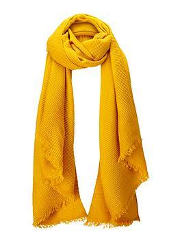 oasis-paris-crinkle-scarf-yellow