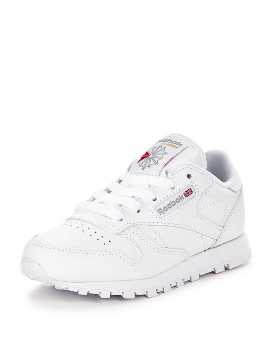 90af596cea5 Reebok Classic Leather Childrens Trainer