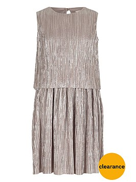 river-island-girls-silver-double-layer-pleated-dress