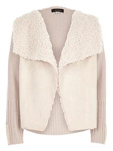 river-island-girls-knit-borg-lined-cardigan