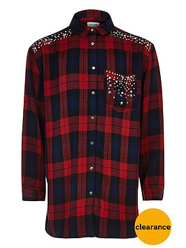 river-island-girls-red-check-embellished-shirt