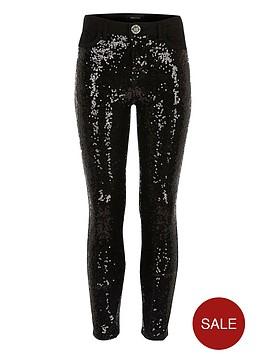river-island-girls-black-sequin-skinny-jeans