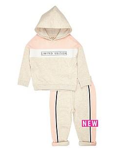 river-island-mini-mini-girls-stone-printed-hoodie-legging-set