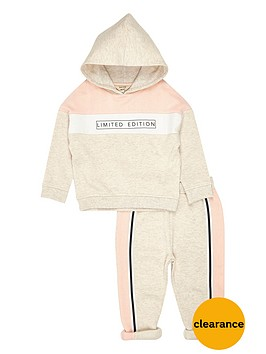 river-island-mini-mini-girls-stone-printed-hoodie-legging-set