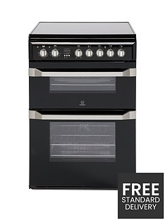 indesit-id60c2ks-60cm-double-oven-electric-cooker-with-ceramic-hob-black