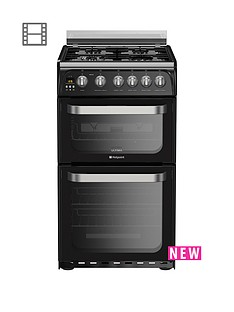 hotpoint-hotpoint-hug52k-50cm-double-oven-gas-cooker