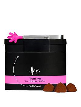 hugs-treat-me-cool-raspberry-truffles-with-pink-tongs