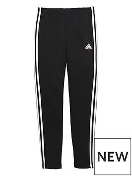 adidas-adidas-older-boys-3-stripe-slim-leg-fleece-pant