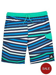 adidas-older-boys-stripe-swim-short