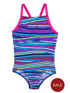 adidas-older-girls-stripe-swimsuit
