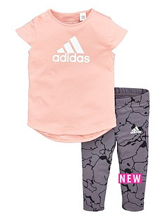 adidas-adidas-baby-girls-tee-and-print-tight-set