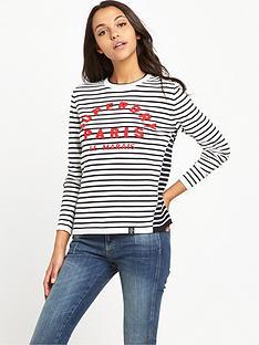 superdry-le-marais-stripe-knit-top-navycream