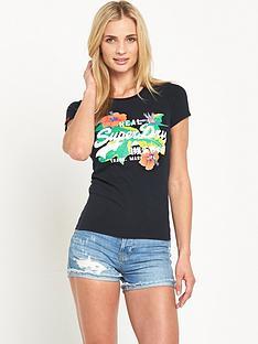 superdry-vintage-logo-hibiscus-tee