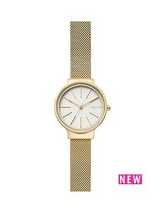 skagen-skagen-ancher-white-dial-gold-tone-mesh-bracelet-ladies-watch