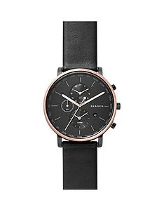skagen-skagen-hagen-black-dial-world-time-black-leather-strap-mens-watch