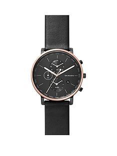 skagen-skagen-hagen-black-dial-world-time-black-leather-strap-mens-watch