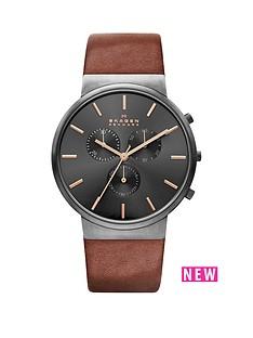 skagen-skagen-ancher-black-dial-chronograph-tan-leather-strap-mens-watch