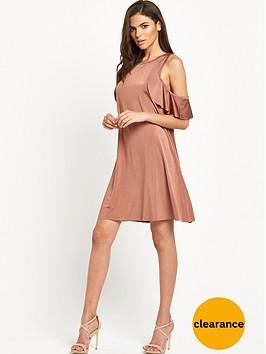 glamorous-cold-shoulder-swing-dress