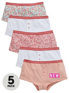 v-by-very-girls-floral-heart-shorties-briefs-5-pack
