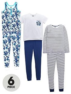 v-by-very-girls-floral-and-stripe-pyjamas-6-piece