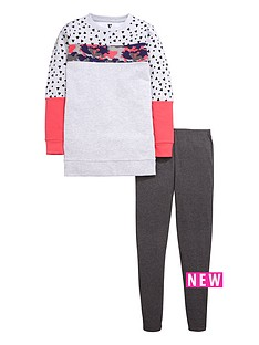 v-by-very-girls-longlinenbsppanelled-sweat-top-and-leggings-set