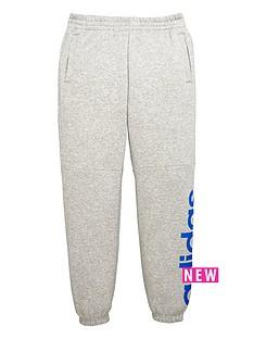 adidas-adidas-older-boys-linear-logo-fleece-pant