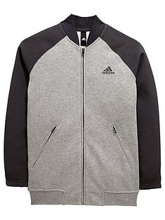 adidas-older-boys-bomber-fz-top