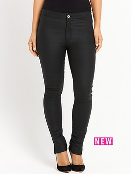 myleene-klass-high-waisted-coated-jeans-black