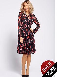 myleene-klass-pussybow-tie-pleated-dress-floral-print