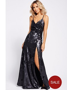myleene-klass-wrap-sequin-maxi-dress-black