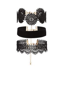 v-by-very-3-pk-velvet-amp-lace-choker-set