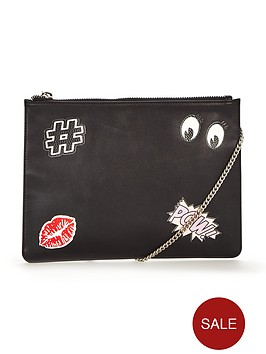 v-by-very-novelty-sticker-detail-clutchpouch-bag